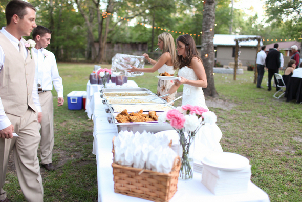 Rustic Backyard Wedding Buffet