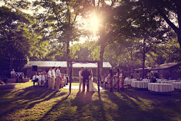 rustic backyard wedding ceremony Rustic Backyard Wedding by Adria Peaden Photography