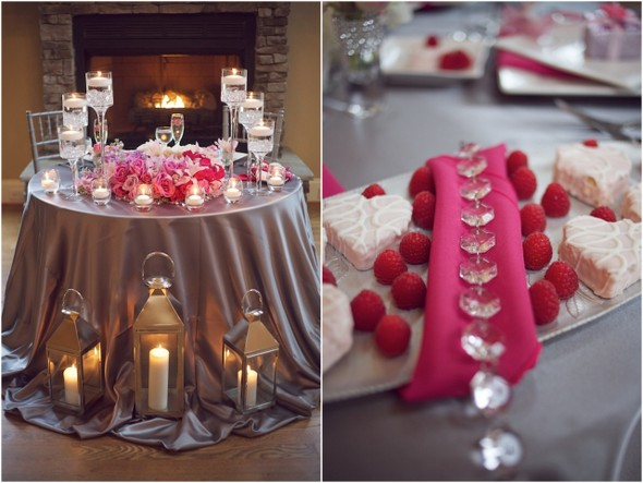 Silver and Pink Sparkly Wedding Inspiration