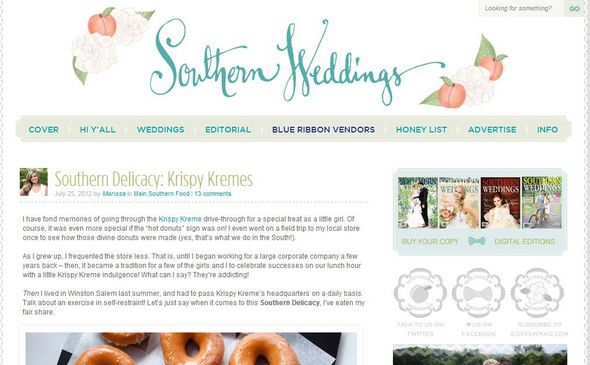 southern weddings1 {Guest Post} Inspirational Wedding Blogs and Websites