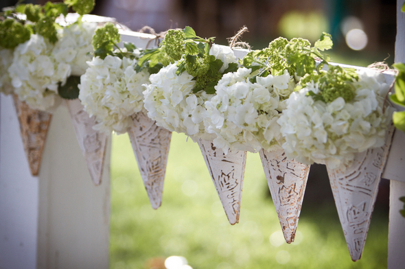 Winery Wedding Decorations In Green White Love Wed Bliss