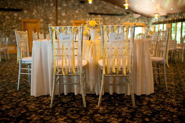 Yellow & Grey DIY Wedding Decorations