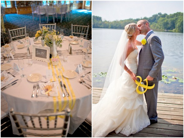 Yellow Grey & White DIY Wedding