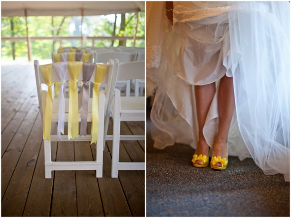 Yellow Grey & White Wedding Ideas