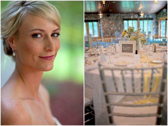 Yellow Grey & White Wedding Tables