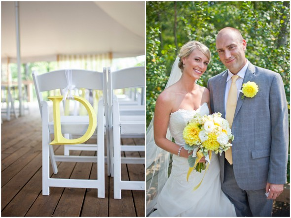 Yellow Grey & White Wedding
