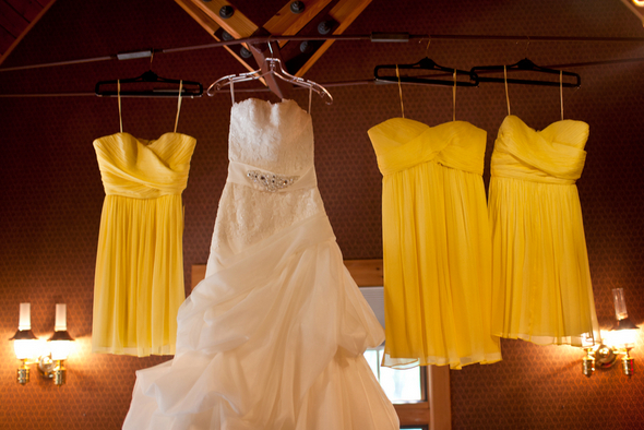 Yellow Short Bridesmaid Dresses
