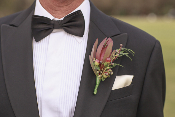 australian native buttonhole Mount Osmond Golf Club Wedding by Truly Madly Photographers