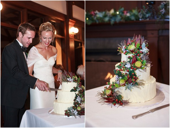 australian native wedding flowers cake Mount Osmond Golf Club Wedding by Truly Madly Photographers