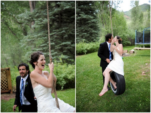 backyard wedding colorado1 DIY Colorado Wedding by Heather Gray Photography