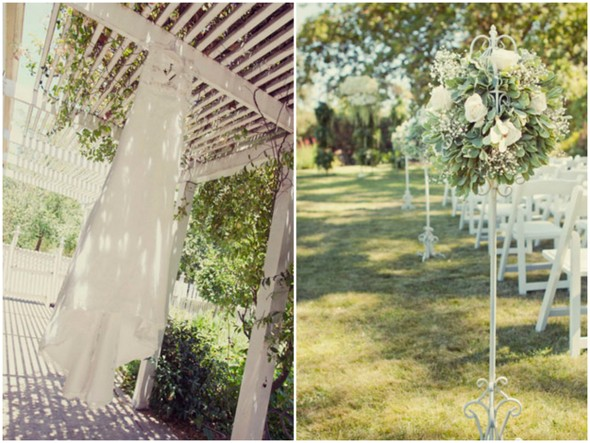 california winery wedding  Shabby Chic Silver and White Wedding by Mathew James Photographers