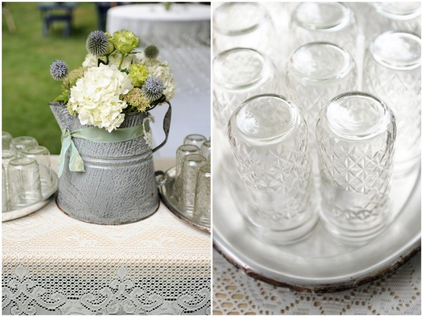 diy wedding mason jar drink station DIY Colorado Wedding by Heather Gray Photography