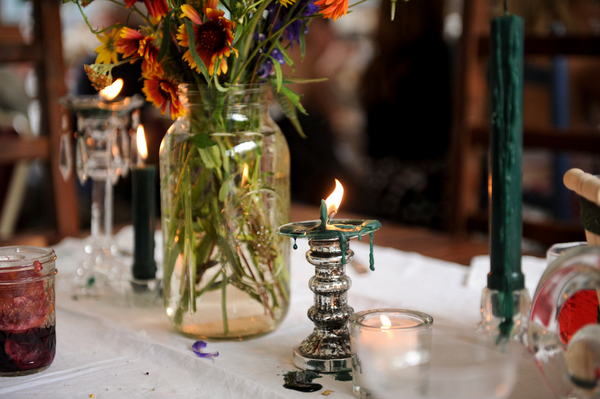 DIY Wedding Table Decorations in Colorado