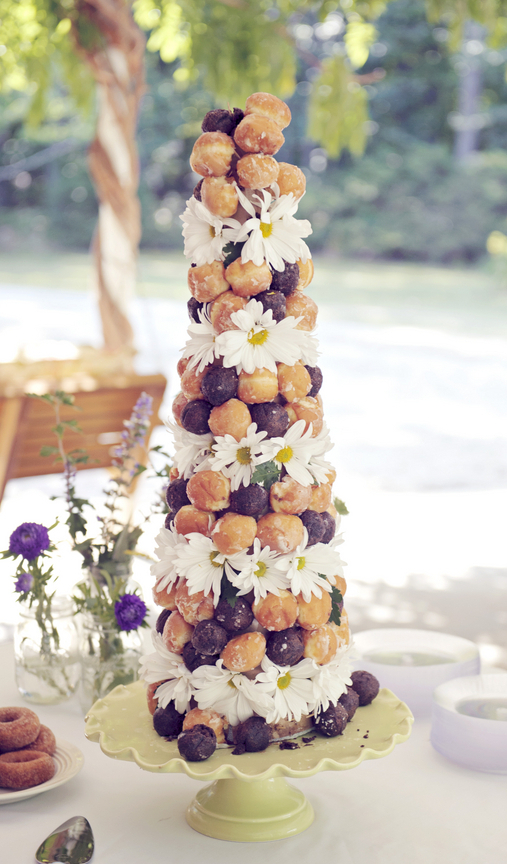Donut Croquembouche at Wedding