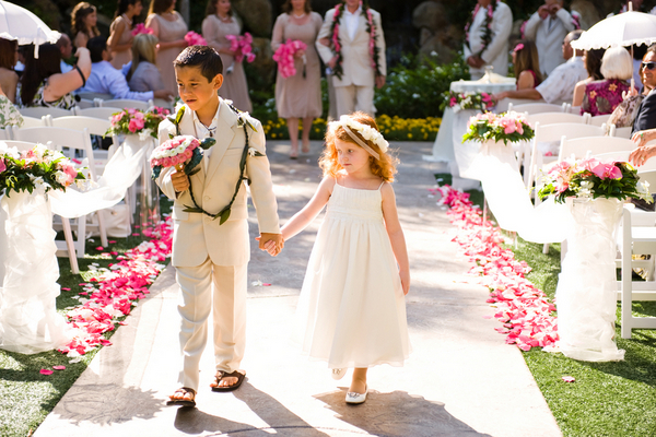 Hawaii Theme Wedding Flowergirl Ring Bearer
