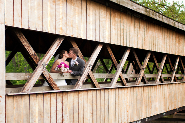indiana wedding bridge photos County Line Orchard Wedding by Jordan Quinn Photography
