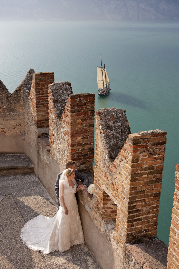 lake garda italy wedding Lake Garda Wedding at Malcesine Castle by Belle Momenti Photography