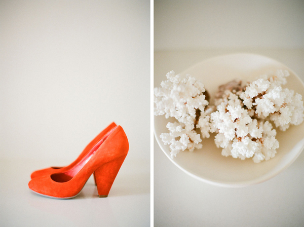 orange wedding shoes Romantic Byron Bay Wedding with Orange Details