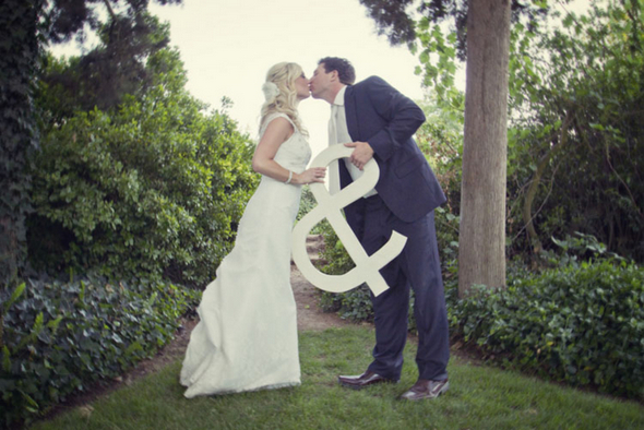 outdoor california wedding Shabby Chic Silver and White Wedding by Mathew James Photographers