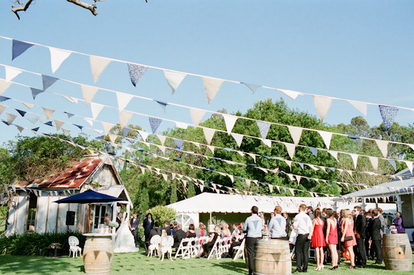 outdoor wedding reception byron bay Romantic Byron Bay Wedding with Orange Details