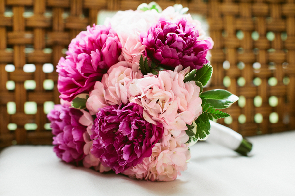 peony and hydrangea bouquet County Line Orchard Wedding by Jordan Quinn Photography