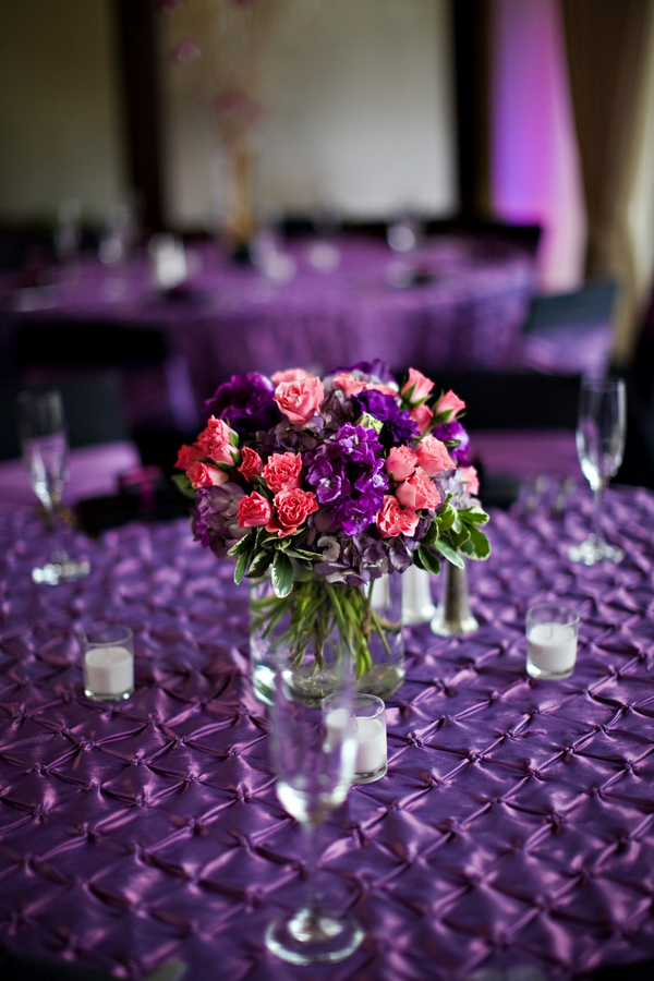 Purple Pink Wedding Decorations Love Wed Bliss