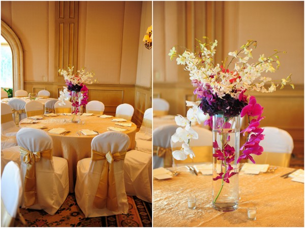 Purple Orchids Wedding Centerpieces Love Wed Bliss