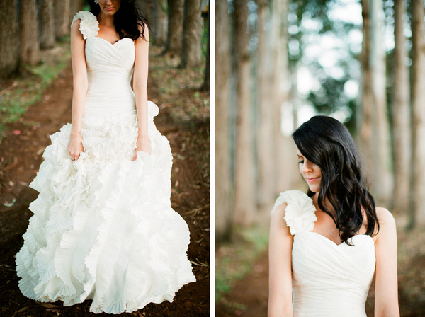 romantic byron bay bride Romantic Byron Bay Wedding with Orange Details