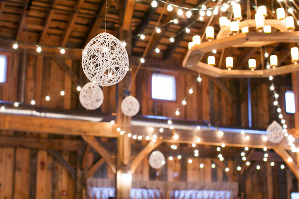 rustic barn wedding lighting County Line Orchard Wedding by Jordan Quinn Photography