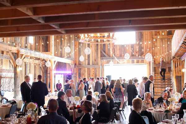 rustic barn wedding reception County Line Orchard Wedding by Jordan Quinn Photography