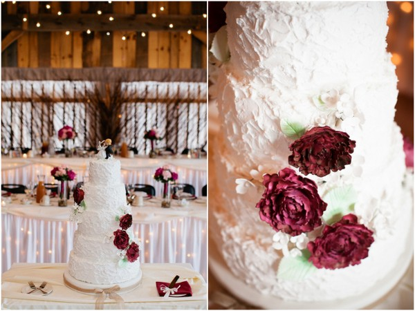 rustic wedding cake buttercream icing County Line Orchard Wedding by Jordan Quinn Photography