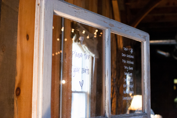 Rustic Window Pane Seating Chart