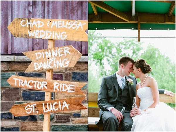rustic wooden wedding sign County Line Orchard Wedding by Jordan Quinn Photography