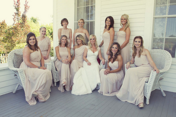 shabby chic bridesmaids pink Shabby Chic Silver and White Wedding by Mathew James Photographers
