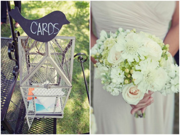 shabby chic wedding details Shabby Chic Silver and White Wedding by Mathew James Photographers