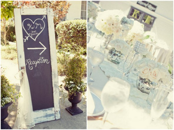 shabby chic wedding ideas Shabby Chic Silver and White Wedding by Mathew James Photographers