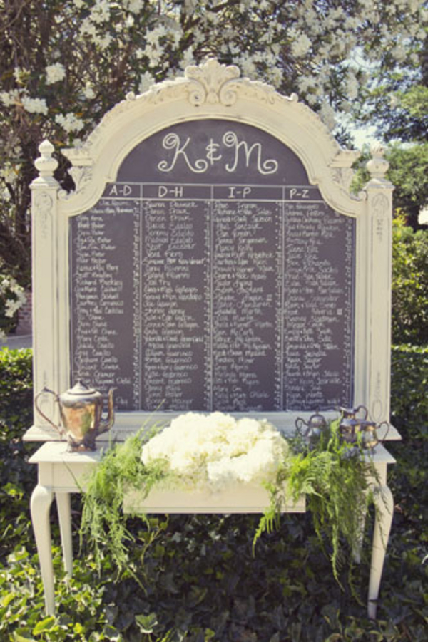 shabby chic wedding seating plan Shabby Chic Silver and White Wedding by Mathew James Photographers