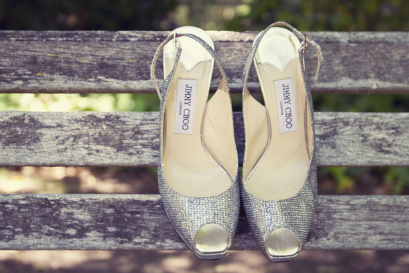 silver jimmy choo wedding shoes Shabby Chic Silver and White Wedding by Mathew James Photographers