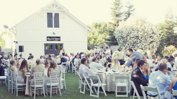 sorelle winery outdoor wedding Shabby Chic Silver and White Wedding by Mathew James Photographers