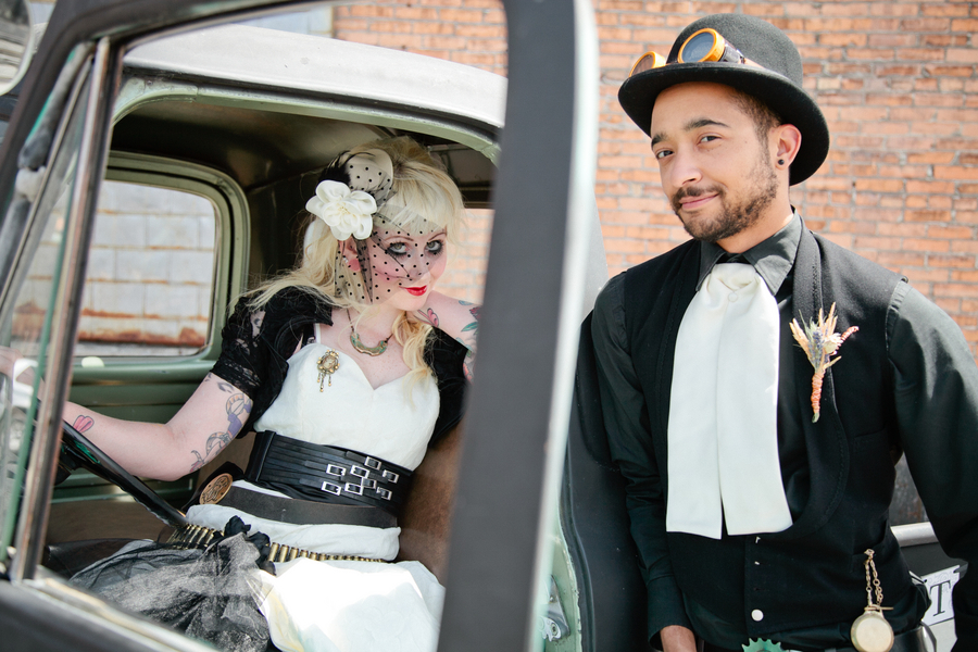 Steampunk Wedding Inspiration Shoot