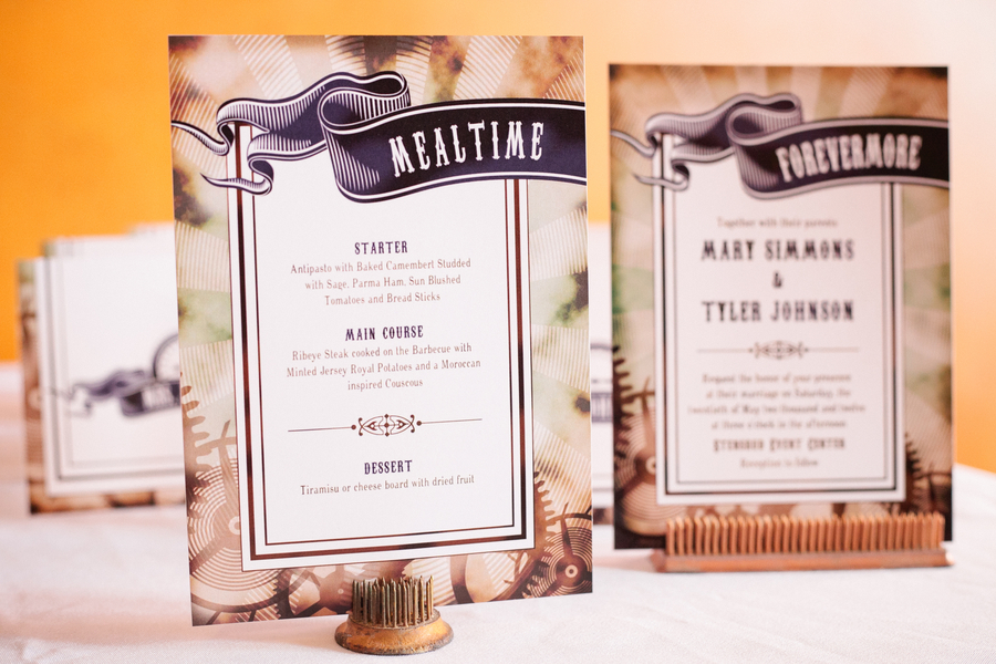 steampunk wedding stationery Steampunk Wedding Theme