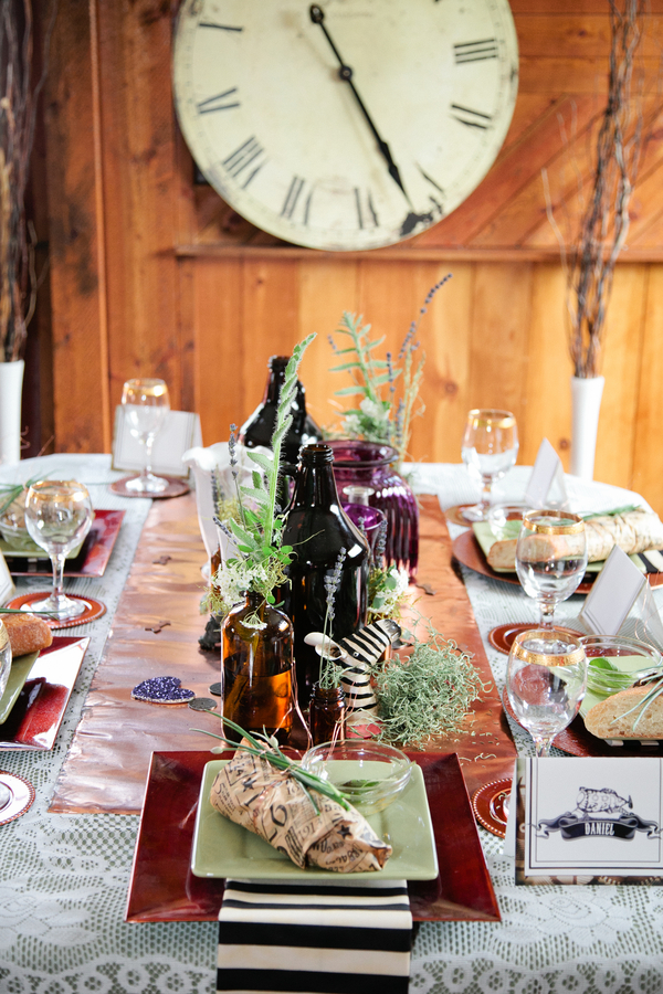 Steampunk Wedding Tablescape