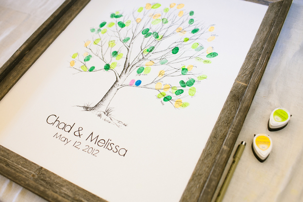 tree thumbprint guest book County Line Orchard Wedding by Jordan Quinn Photography