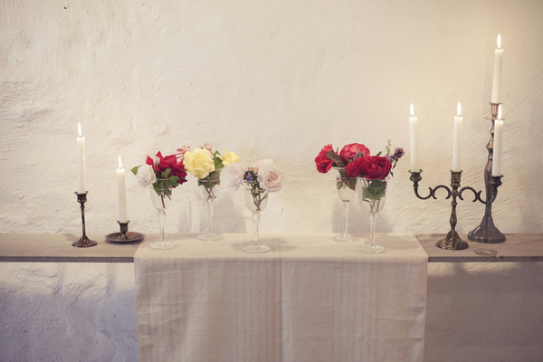 unique wedding decor ideas An Artists Wedding in Oland Sweden