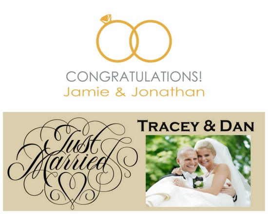 wedding banner giveaway Wedding Giveaway: Win a Customized Photo Canvas or Wedding Banner!