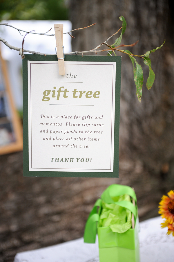 wedding gift tree DIY Colorado Wedding by Heather Gray Photography