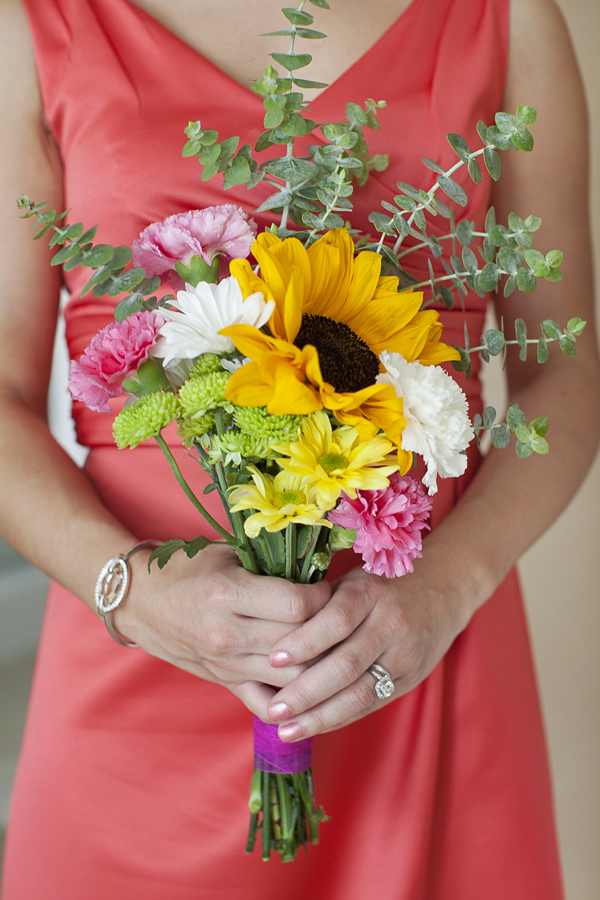DIY Garden Bridesmaid Bouquet