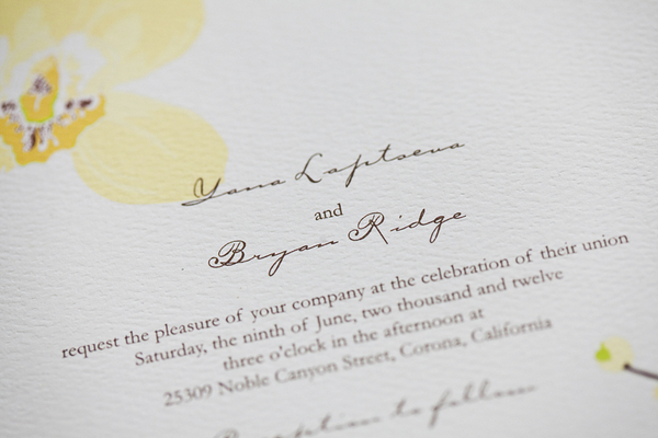DIY Garden Wedding Invites