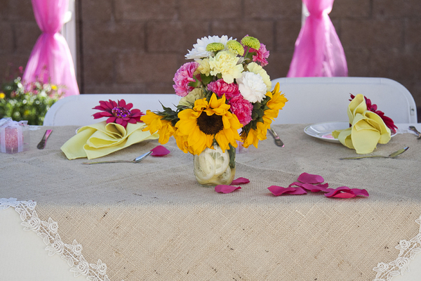 DIY Garden Wedding Reception Table