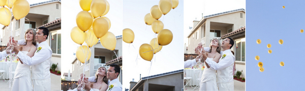Garden Wedding Balloon Release